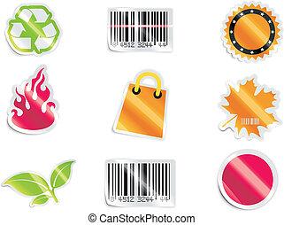 icon., vettore, shopping, p.6
