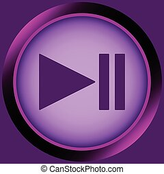 Icon violet pause symbol