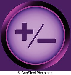 Icon violet plus-minus