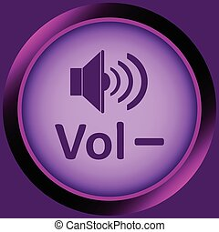 Icon violet volume minus