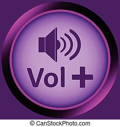 Icon violet volume plus