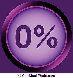 Icon violet zero percent