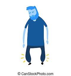 icon., vit, fötter, vektor, tecken, illustration., svällt, ...
