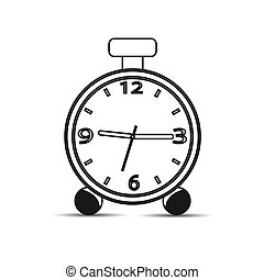 Icon watch on a white background. Vector illustration.