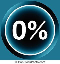 Icon white zero percent