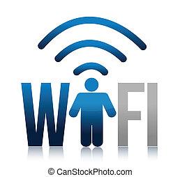 icon wifi illustration design over