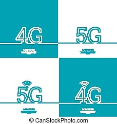 Icon Wireless 4g, 5g. New technology, high speed internet...