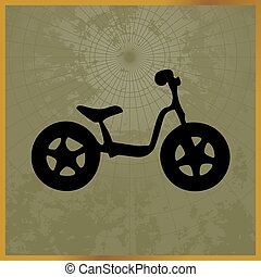 Icon with a black bike field map