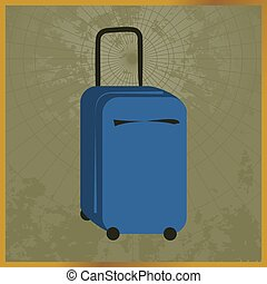 Icon with a blue suitcase field map