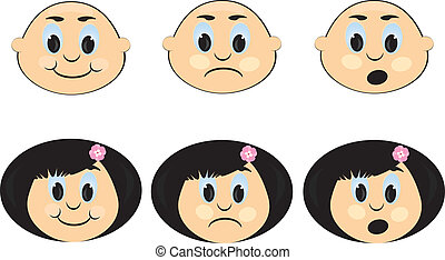 Icon with a Children\'s emotions.