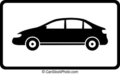 icon with black car silhouette