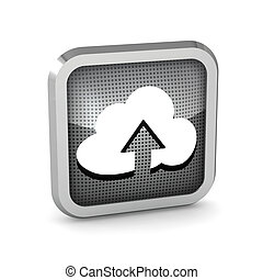 icon with cloud and arrow on a white background