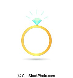 Icon with diamond ring on white background.