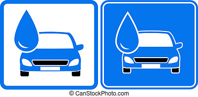 icon with drop and car