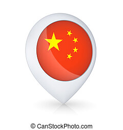 Icon with flag of China.