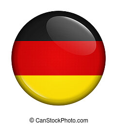 icon with flag of Germany isolated on white background