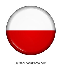 icon with flag of Poland isolated