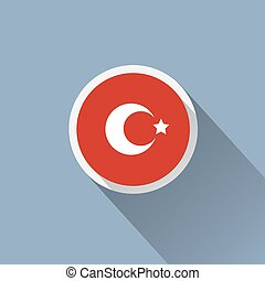 Icon with flag of Turkey