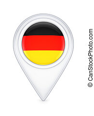 Icon with german flag.