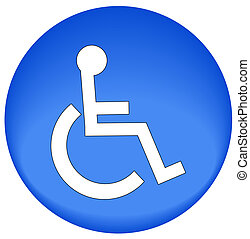 icon with handicap symbol of accessibility