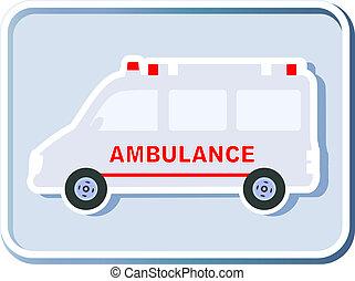 icon with isolated ambulance