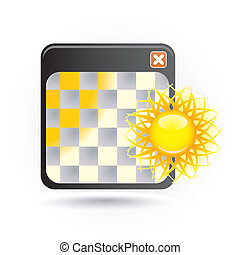 icon with sun