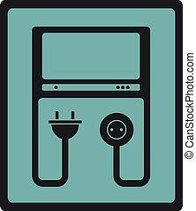 icon with tv symbol