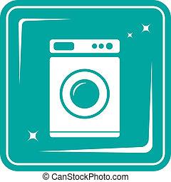 washing machine symbol - icon with washing machine symbol