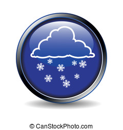 Icon with weather symbolics