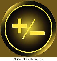 Icon yellow plus-minus