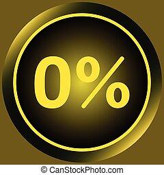 Icon yellow zero percent