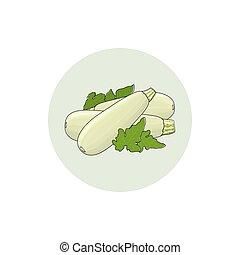 Icon Zucchini Courgette Vegetable - Icon Zucchini , icon...