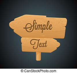 icon2, tábua, seta, madeira