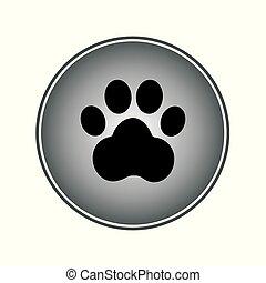 icon7, signe, patte, chien