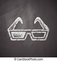 icona, 3d occhiali