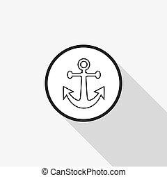 icona, ancorare, vettore
