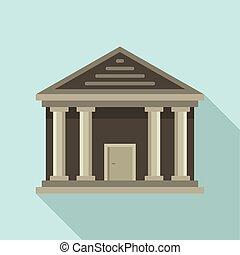 icona, appartamento, pietra, stile, palazzo di giustizia