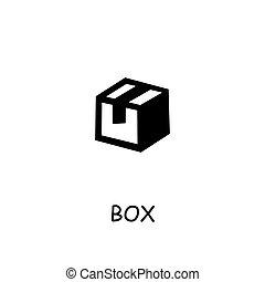 icona, appartamento, scatola, vettore