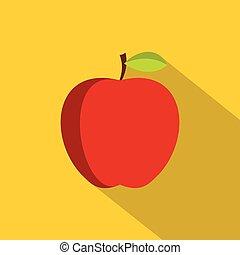 icona, appartamento, stile, mela