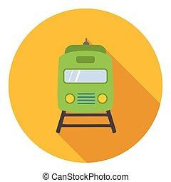 icona, appartamento, stile, treno