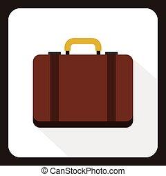 icona, appartamento, stile, valigia