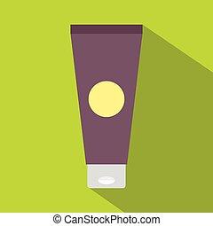 icona, appartamento, tubo, stile, crema