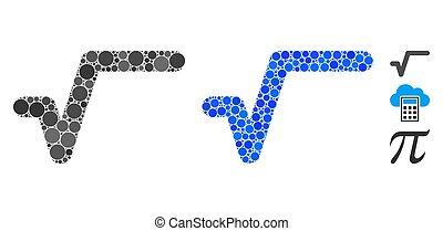 icona, articoli, composizione, spheric, sqrt
