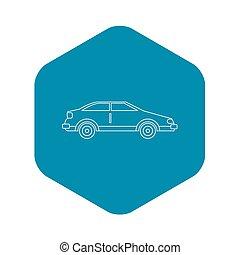 icona, automobile, stile, contorno