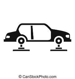 icona, automobile, stile, montaggio, semplice