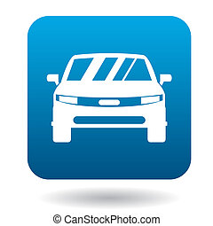 icona, automobile, stile, parcheggiato, semplice