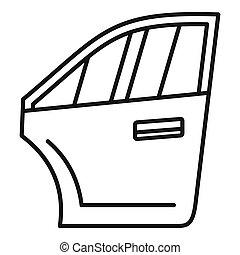 icona, automobile, stile, porta, contorno