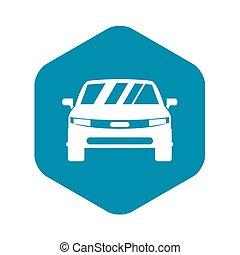 icona, automobile, stile, semplice