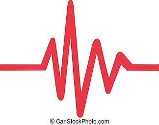 icona, battito cardiaco