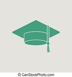 icona, berretto, graduazione